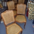 Réfection du cannage manuel sur une série de chaises Louis XV