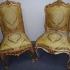 Chaises Louis XV dorées
