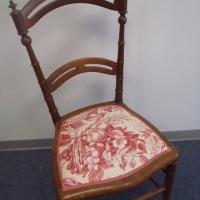 Chaise habillée avec toile de Jouy